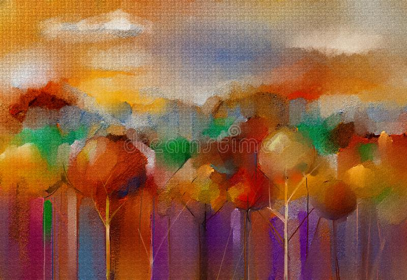 Abstract colorful oil, acrylic paint on canvas texture. Hand drawn brush stroke, oil color paintings background. Abstract oil, acrylic painting outdoor vector illustration