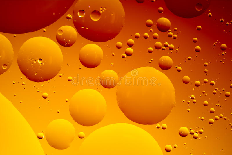 Abstract Oil Bubbles royalty free stock photos