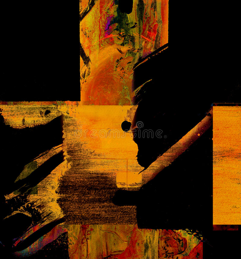 Abstract oil. Nice Image of an original Abstract Oil painting on canvas royalty free stock photos