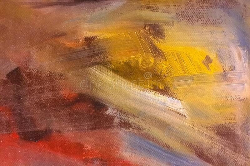 Abstract Oil Paint Texture On Canvas Background Stock Image