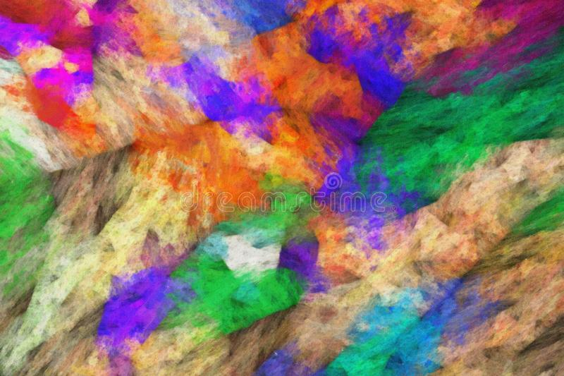Abstract oil painting on canvas royalty free illustration