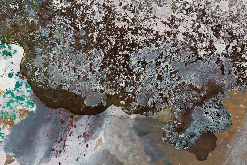 Abstract oil painting. Rock at the sea. Atristic of a painter. royalty free stock images