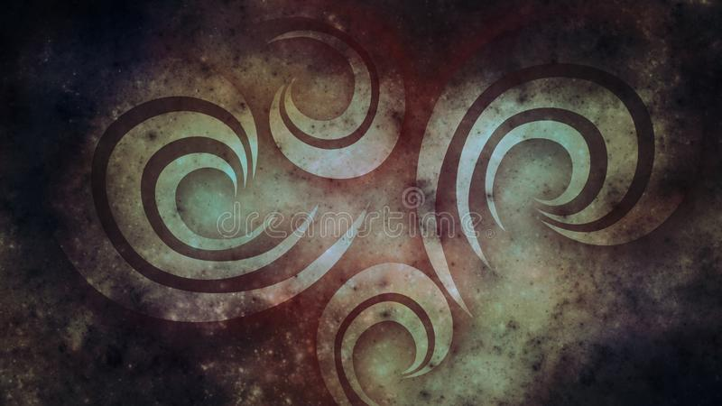 Abstract old background for design. Dark grunge wallpaper stock image