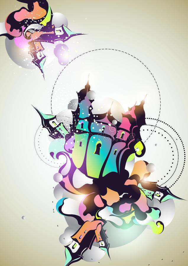 Abstract old city royalty free illustration