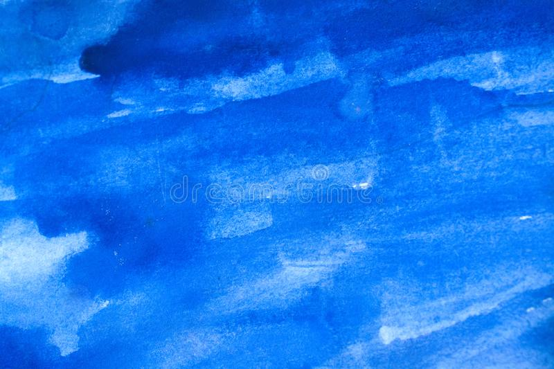 Abstract old grunge background. Blue abstract watercolor macro texture background stock photo
