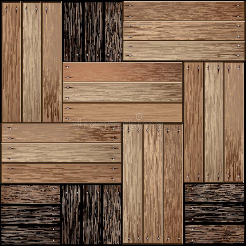 Abstract old wood background. Vector royalty free illustration
