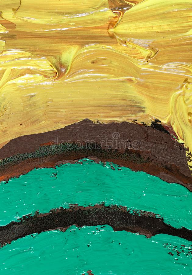 Abstract olieverfschilderij vector illustratie