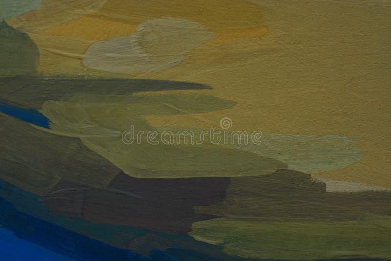 Abstract olieverfschilderij als achtergrond, met de hand geschilderde textuur, plonsen, dalingen van verf, verfvlekken royalty-vrije stock foto