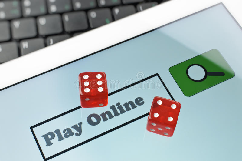 Abstract online game. Searching online game on screen royalty free stock photography