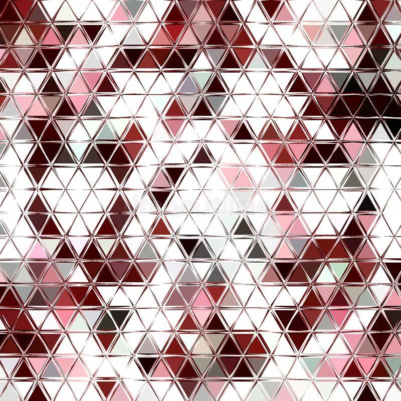 Abstract ononderbroken patroon van driehoeken, schaduwen en gradiënten van geometrische vormen stock illustratie