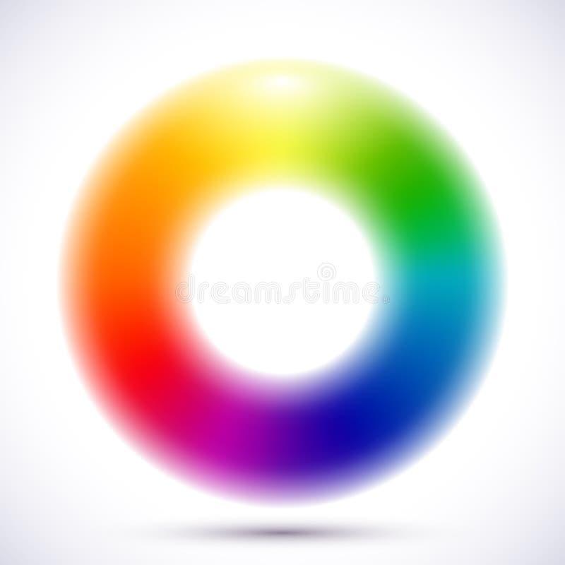 Abstract onscherp kleurenwiel royalty-vrije illustratie