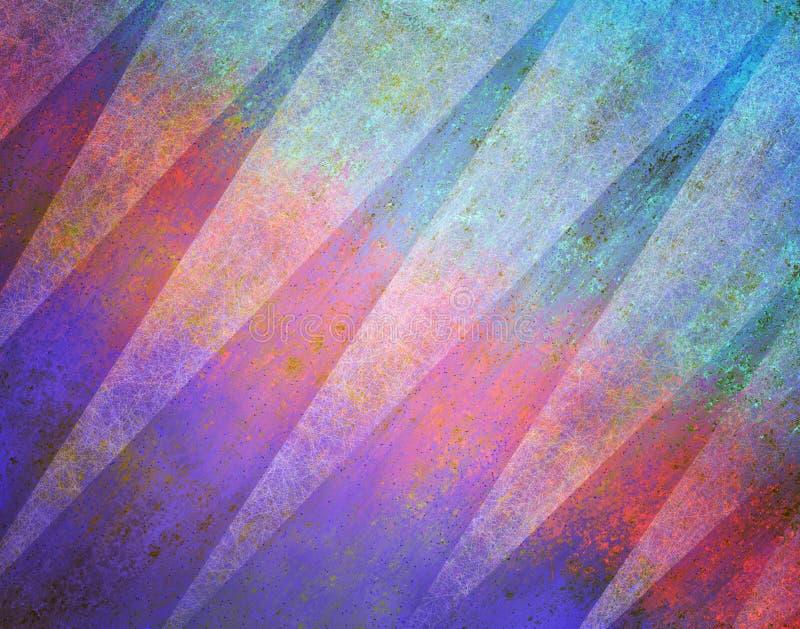 Abstract ontwerp als achtergrond met driehoeksvormen en textuur in purpere blauw en roze stock illustratie