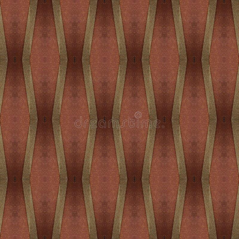 abstract ontwerp met besnoeiingen van schuimend in bruine kleuren, achtergrond en textuur stock illustratie