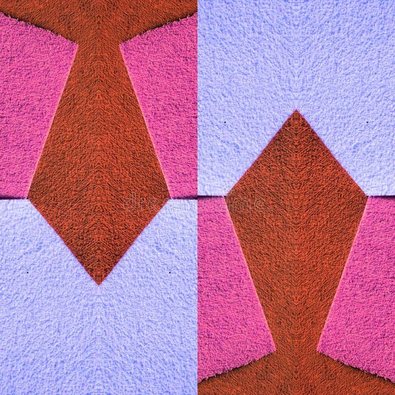 abstract ontwerp met besnoeiingen van schuimend in roze, rode en violette kleuren, achtergrond en textuur stock illustratie