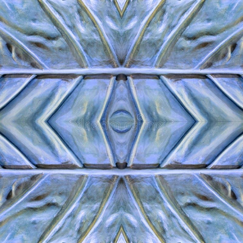 abstract ontwerp met steen en zandmateriaal in blauwe en grijze kleuren, achtergrond en textuur royalty-vrije illustratie