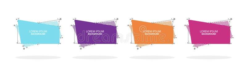Abstract ontwerp Moderne bannerreeks Vlakke geometrische vloeibare vorm met diverse kleuren Vector vector illustratie