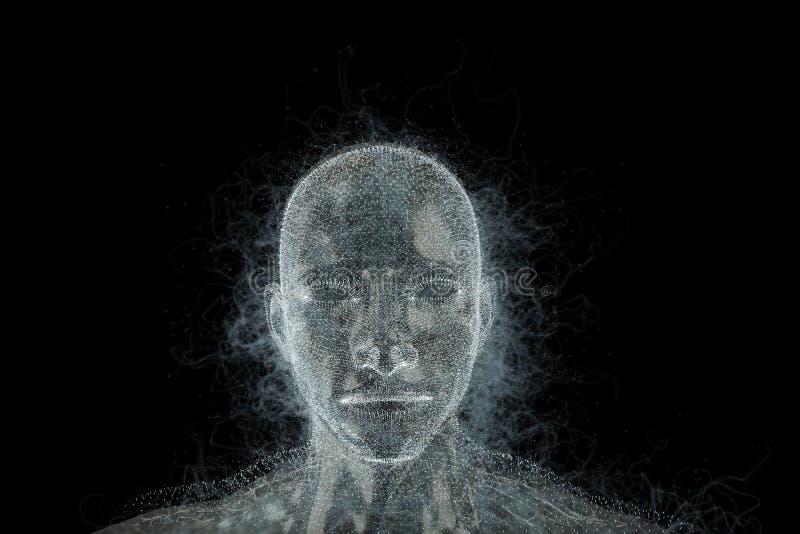 Abstract ontwerp van menselijk hoofd stock afbeelding