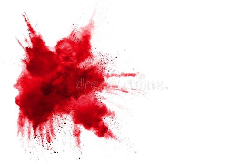 Abstract ontwerp van rode poederwolk royalty-vrije stock afbeeldingen