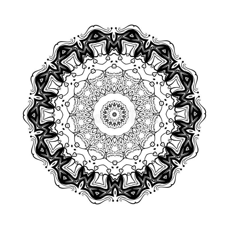 Abstract ontwerp zwart wit element Ronde mandala in vector Grafisch malplaatje voor uw ontwerp Het cirkelpatroon wordt gebruikt o vector illustratie