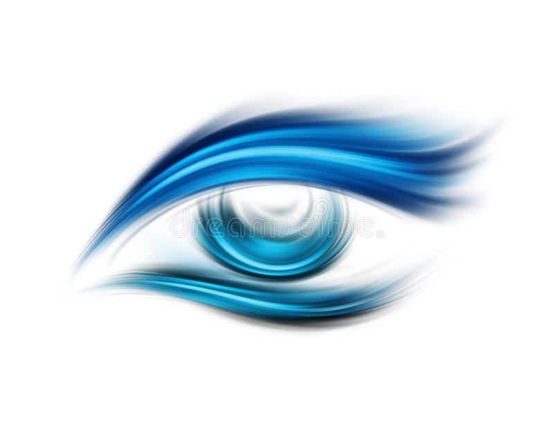 Abstract oog stock illustratie