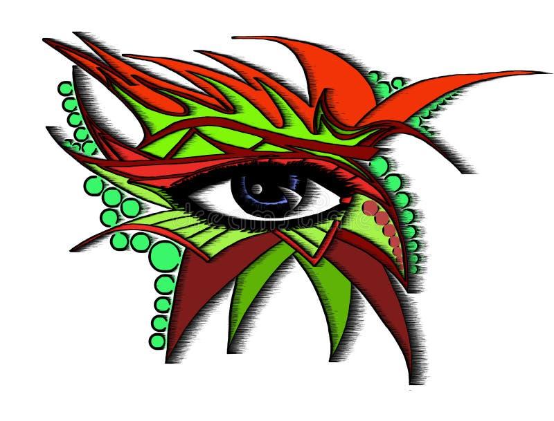 Abstract oog stock illustratie