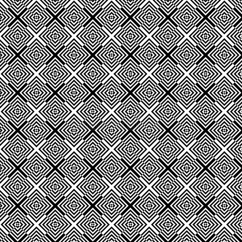 Abstract op art geometric black and white pattern background royalty free illustration