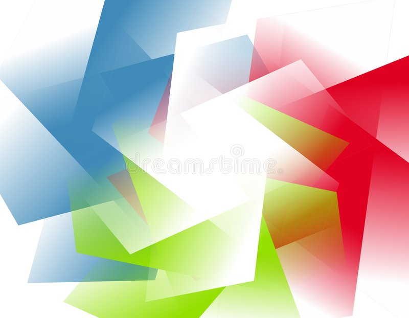 Abstract Opaque RGB Shapes Background