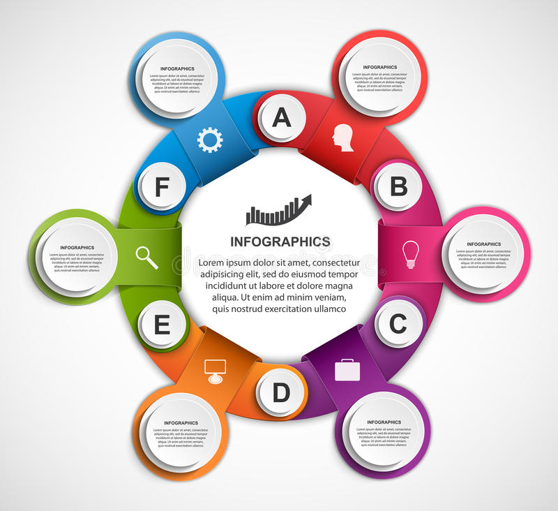 Abstract options infographics template. Vector Illustration vector illustration