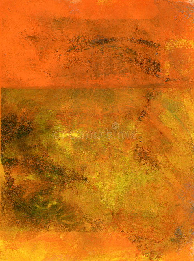Abstract Orange. Orange abstract painting background