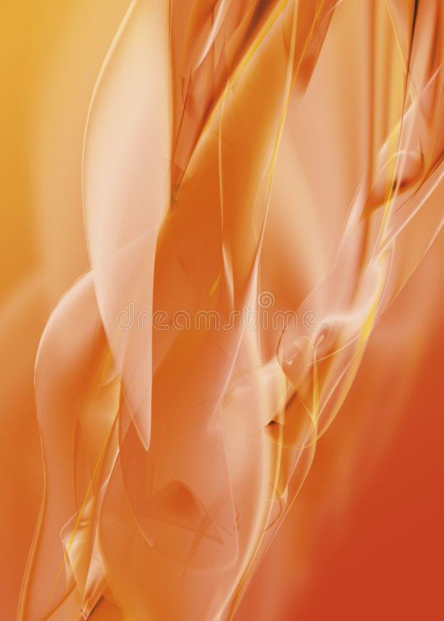 Abstract orange background. With blured waves stock illustration