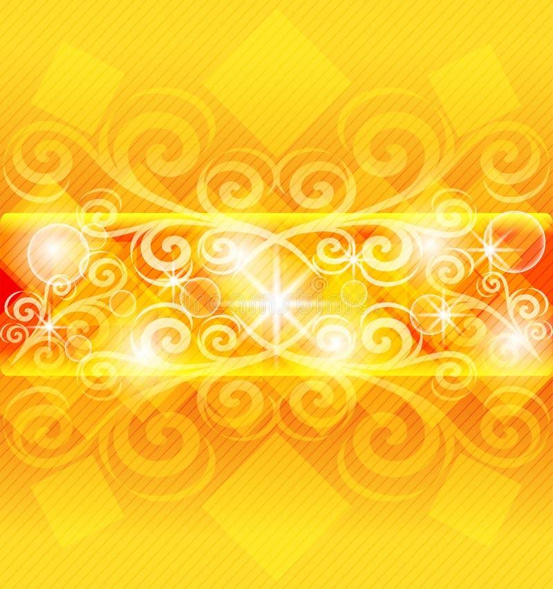 Abstract orange background. stock illustration