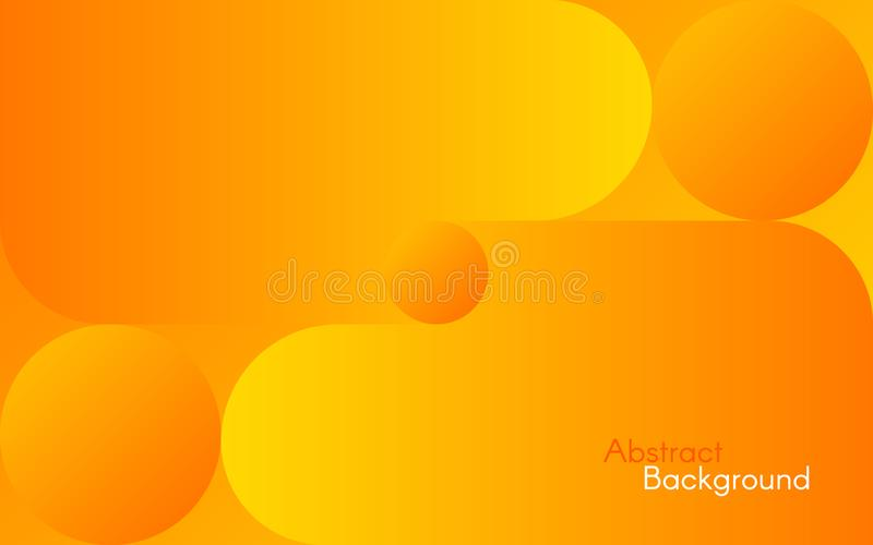 Abstract orange background. Bright yellow shapes and gradients. Simple design for web, brochure, flyer. Vector. Illustration stock illustration