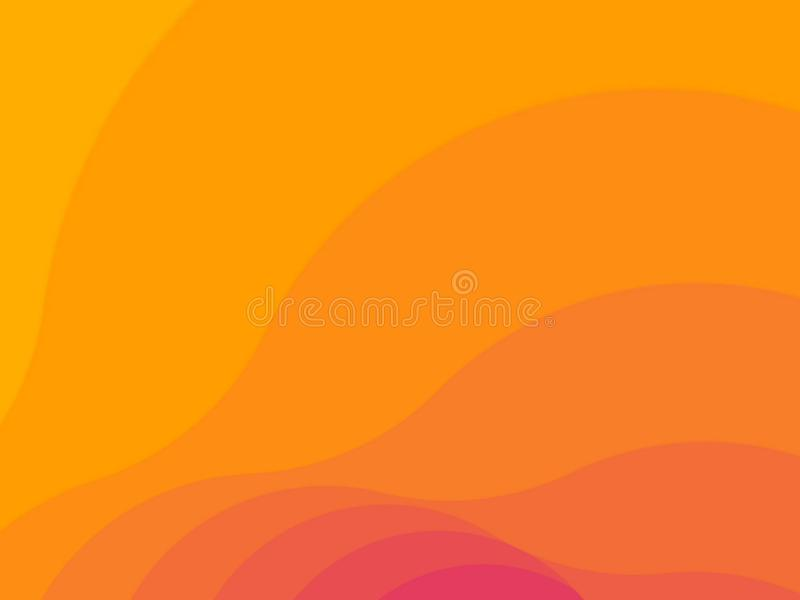 Abstract orange background of different shades. Template for your project. Can be used for banners, covers on different social vector illustration