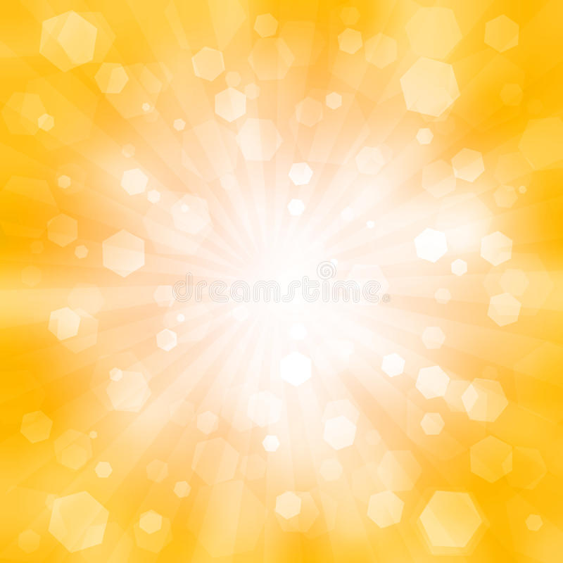 Abstract orange background with the flash vector illustration
