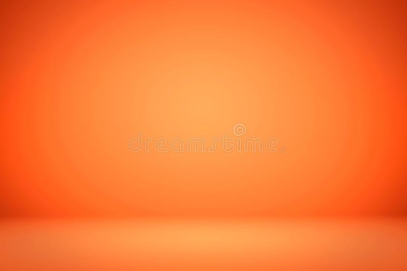 Abstract Orange background layout design,studio,room, web template ,Business report with smooth circle gradient color.  royalty free stock photo