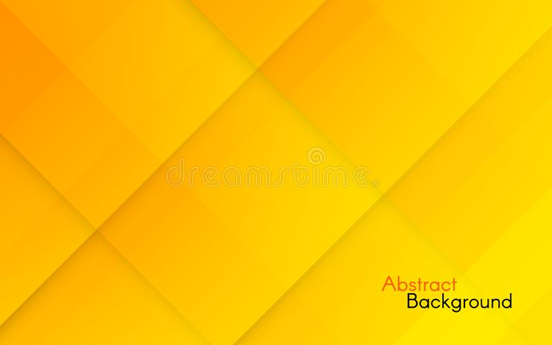 Abstract orange background. Yellow geometric backdrop with gradient squares. Bright color texture with diagonal tiles stock illustration