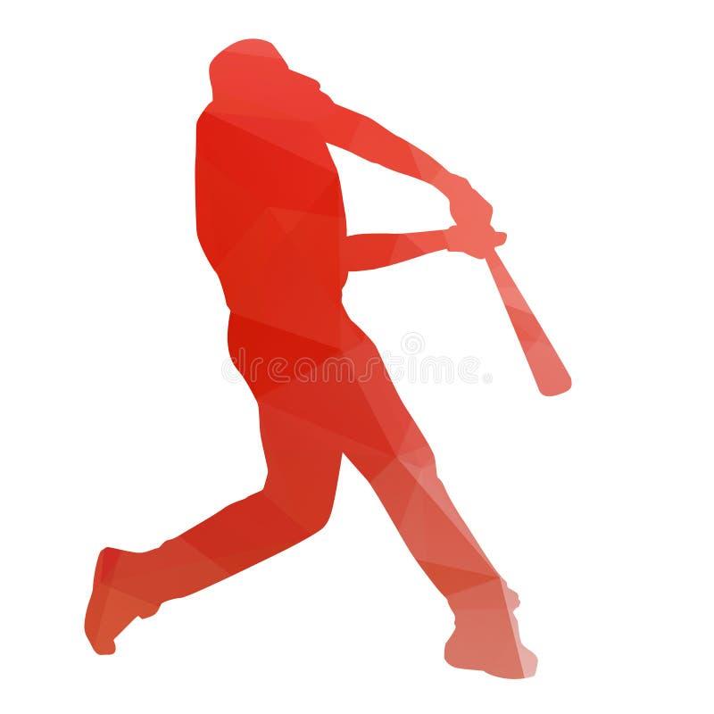 Abstract orange baseball player stock photography