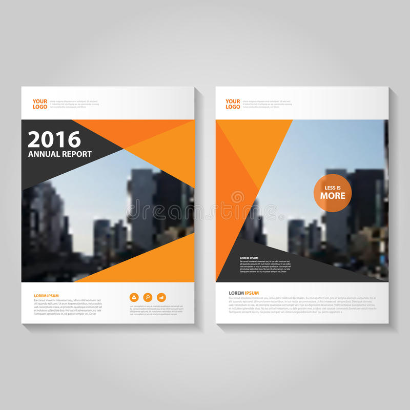 download abstract orange black hexagon annual report leaflet brochure flyer template design book cover layout