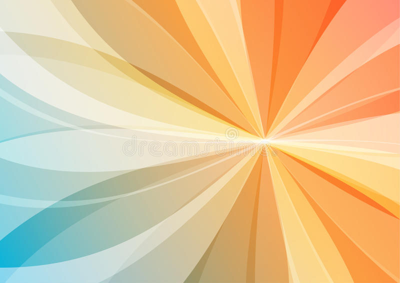 Download Abstract Orange And Blue Background Stock Illustration