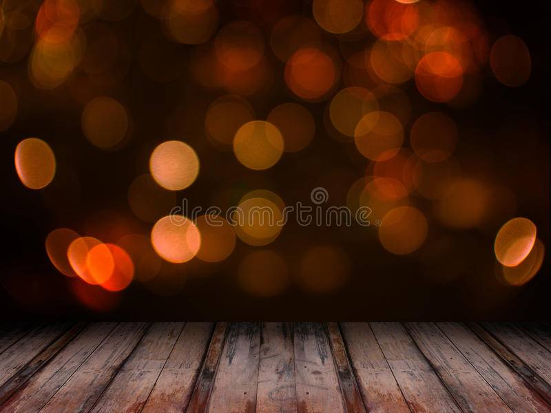 Abstract orange blured bokeh royalty free stock photography