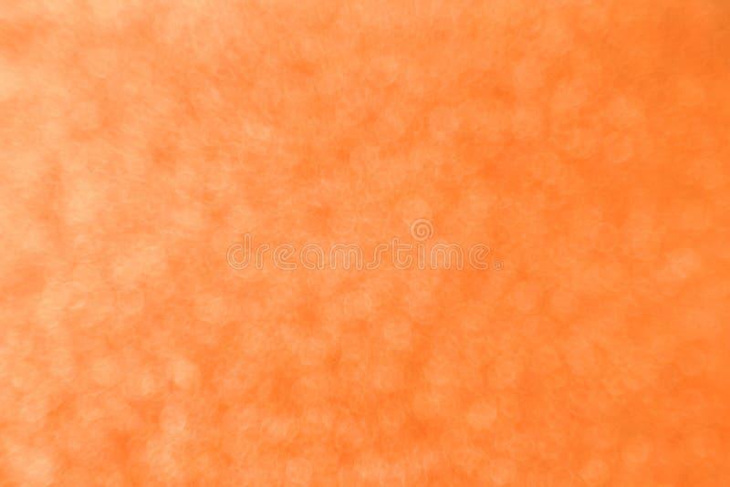 Abstract orange bokeh background for christmas, Celebration concept. stock photos