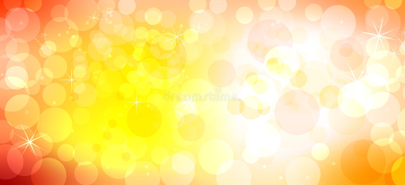 Abstract orange bokeh vector background royalty free illustration
