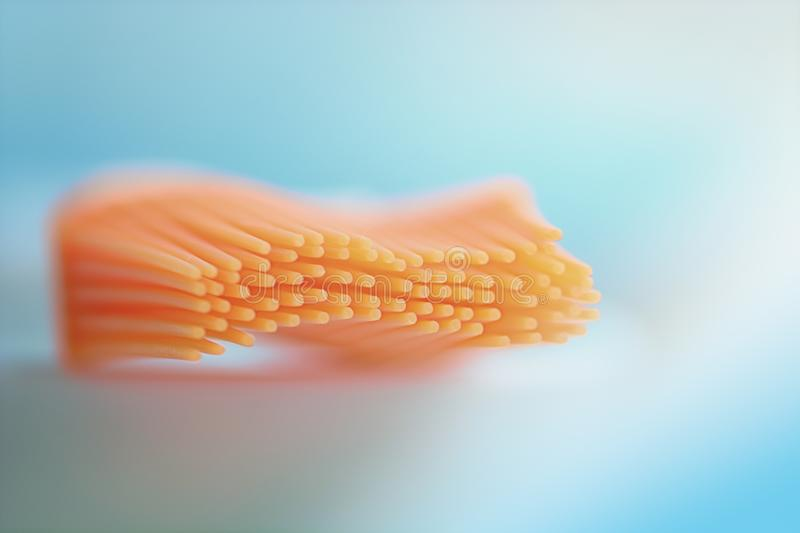 Abstract orange brush. Macro view