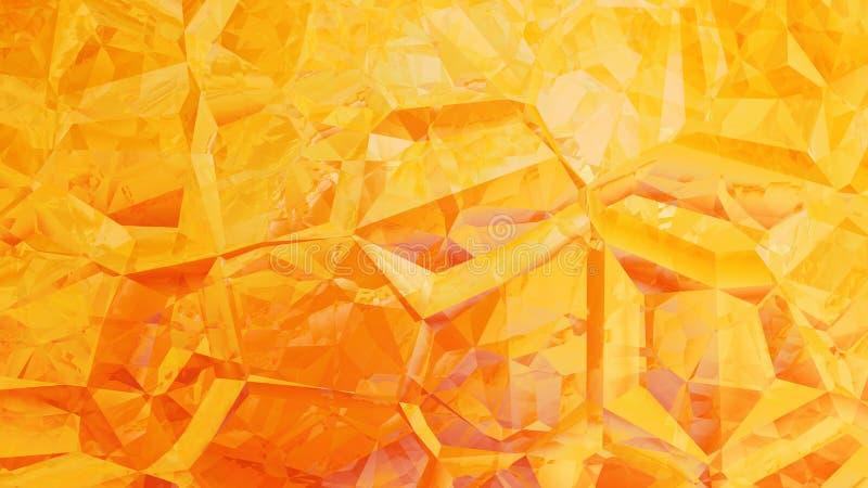 Abstract Orange Crystal Background Image Beautiful elegant Illustration graphic art design Background. Image stock illustration