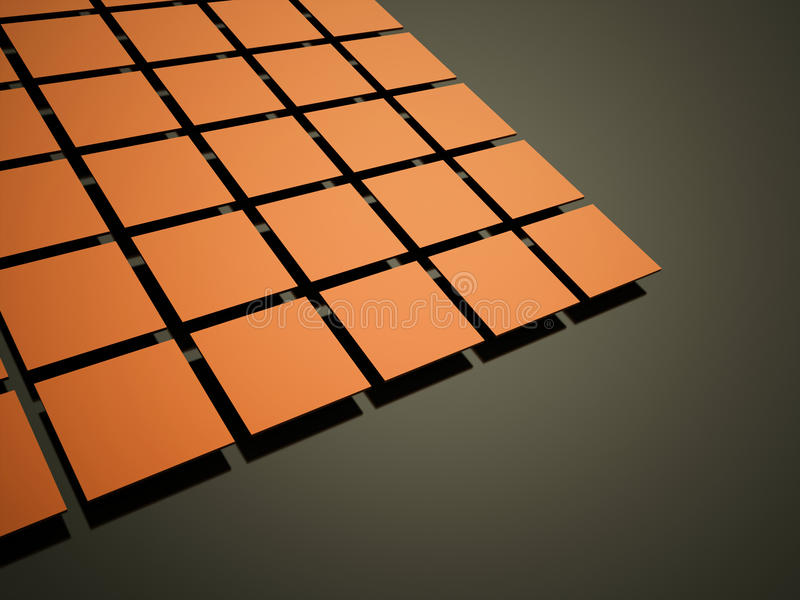 Abstract orange cubes background royalty free illustration