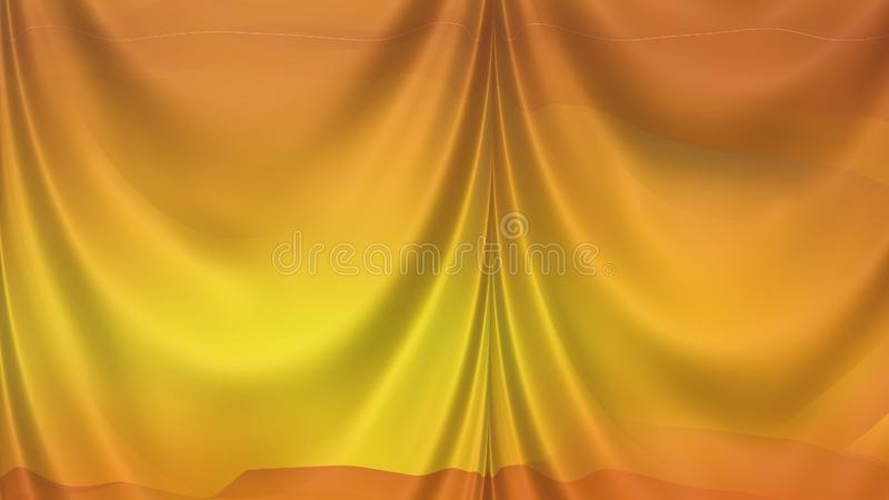 Abstract Orange Curtain Texture Beautiful elegant Illustration graphic art design Background. Image stock illustration