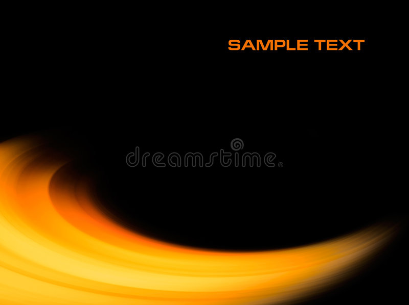 Abstract orange curve background. With copyspace