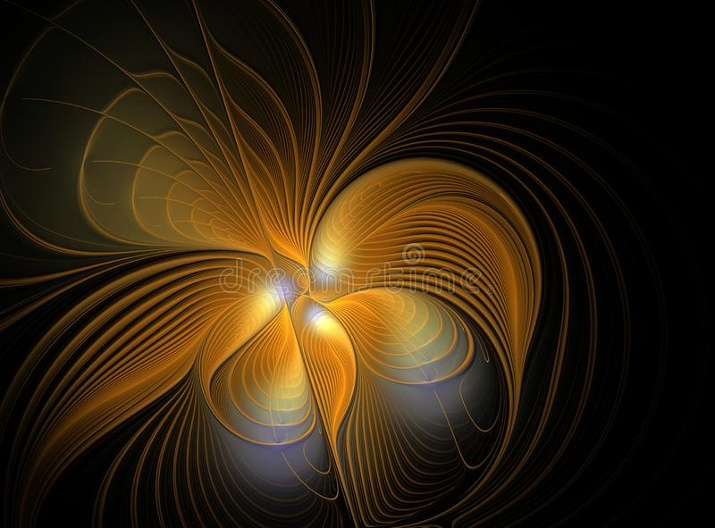 Abstract fractal orange flower royalty free stock photos