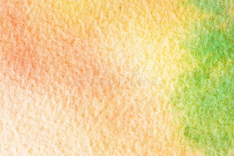 Abstract orange green watercolor background. Macro texture stock photo