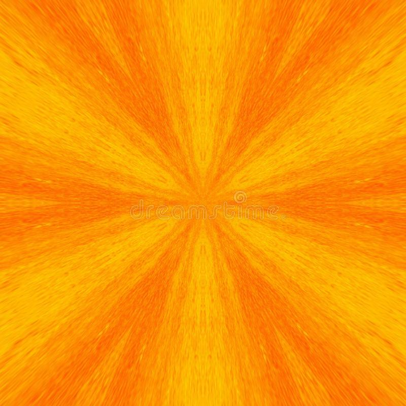 Abstract orange kaleidoscope trend background bright sunny stock images